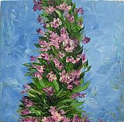 Oleanders Paintings - Oleanders by Animesh Roy