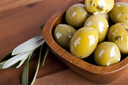 Olive Oil Framed Prints - Olive bowl Framed Print by Jane Rix