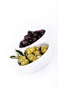 Health Food Framed Prints - Olive bowls Framed Print by Jane Rix
