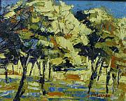 Pallet Knife Art - Olive grove by Yvonne Ankerman