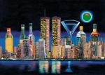 Skylines Painting Prints - Olive NY Print by Tim Williams