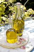 Decanters Photo Framed Prints - Olive Oil Framed Print by Erika Craddock