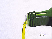 Meal Paintings - Olive Oil by Kayleigh Semeniuk