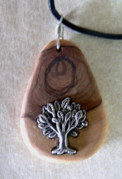 Wood Necklace Jewelry - Olive wood necklace by Eric Kempson