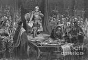 Ruler Posters - Oliver Cromwell Refusing The Crown Poster by Photo Researchers