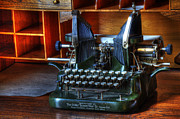 Office Equipment Metal Prints - Oliver Typewriter Metal Print by Bob Christopher