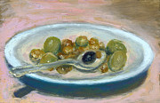 Art In Acrylic Drawings Framed Prints - Olives Framed Print by Scott Bennett