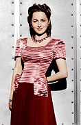 1940s Fashion Posters - Olivia De Havilland, Ca. 1942 Poster by Everett