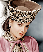 Leopard Skin Framed Prints - Olivia De Havilland, Ca. 1943 Framed Print by Everett