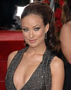 Dangly Earrings Photo Framed Prints - Olivia Wilde At Arrivals For The 67th Framed Print by Everett
