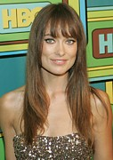 2010s Hairstyles Posters - Olivia Wilde At The After-party Poster by Everett
