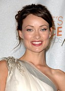 Updo Framed Prints - Olivia Wilde In The Press Room Framed Print by Everett