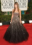 Strapless Dress Prints - Olivia Wilde Wearing A Marchesa Gown Print by Everett