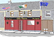 Obama Paintings - Ollie Hayes Pub Moneygall by David O Reilly