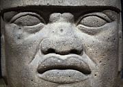 Mercado Prints - Olmec Head Print by John  Bartosik