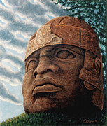 Olmec Framed Prints - Olmeca Framed Print by Emiliano Campobello