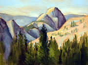Half Dome Painting Prints - Olmstead Point Print by Karin  Leonard