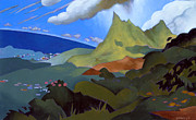 Horizon Paintings - Olomana by Douglas Simonson