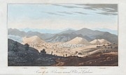Principles Framed Prints - Olot Volcanic Field, 19th Century Framed Print by King