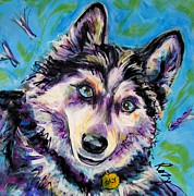 Huskies Painting Posters - Oly-Oly Oxenfree Poster by Judy  Rogan