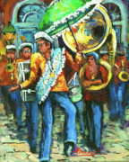 New Orleans Painting Prints - Olympia Brass Band Print by Dianne Parks