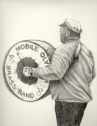 Mardi Drawings - Olympia Brass Band by Phyllis Henson