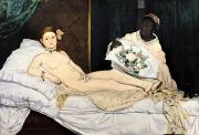 Prostitute Art - Olympia by Edouard Manet