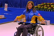 Champions Prints - Olympian Cheryl Bernard Wheelchair Curling Print by Lawrence Christopher