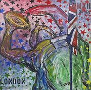 Olympian Painting Prints - Olympians Never Die Print by Mary Gallagher-Stout