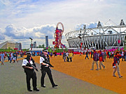 Olympic 2012 Stadium Security Print by Peter Allen