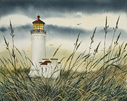 Landscape Greeting Card Painting Originals - Olympic Coast Sentinel by James Williamson