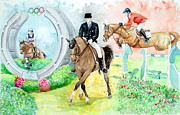 Dressage Horse Originals - Olympic Equestrian Events  by Leslie Hoops-Wallace