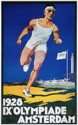 Footrace Framed Prints - Olympic Games, 1928 Framed Print by Granger