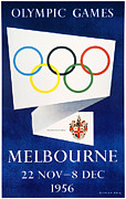 Australian Poster Framed Prints - Olympic Games, 1956 Framed Print by Granger