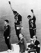Civil Rights Photos - Olympic Games, 1968 by Granger