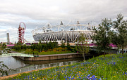 London 2012 Prints - Olympic Park Print by Dawn OConnor