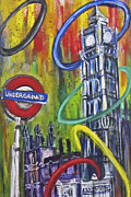 London England  Mixed Media - Olympic Ring Toss by Mary Gallagher-Stout
