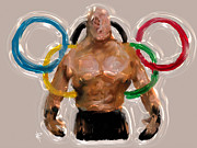 Team Mixed Media Metal Prints - Olympic Rings Metal Print by Russell Pierce