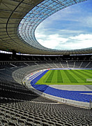 Architektur Posters - Olympic Stadium - Berlin Poster by Juergen Weiss