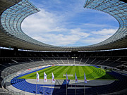 Germany Photo Posters - Olympic Stadium Berlin Poster by Juergen Weiss