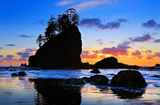 Olympic National Park Prints - Olympic Sunset Print by Inge Johnsson