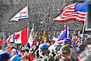 Olympic Torch Rally Snapshot - Slc 2002 Print by Steve Ohlsen