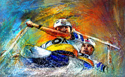 Sports Art Mixed Media - Olympics Canoe Slalom 04 by Miki De Goodaboom