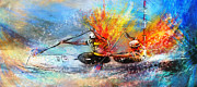 Sports Art Mixed Media - Olympics Canoe Slalom 05 by Miki De Goodaboom