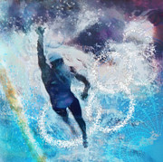 Sport Art - Olympics Swimming 01 by Miki De Goodaboom