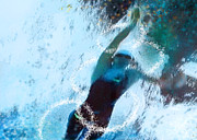 Sports Art Mixed Media - Olympics Swimming 02 by Miki De Goodaboom