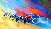 Sports Art Mixed Media - Olympics Women Keirin 01 by Miki De Goodaboom