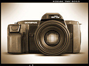 White Digital Art Posters - Olympus OM77AF Poster by Mike McGlothlen