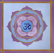 Chanting Prints - OM Mandala Print by Jean Kowalski