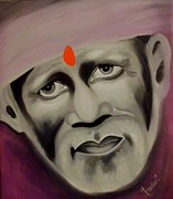 Sai Baba Paintings - Om Sai Ram by Meenakshi Malhotra